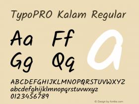 TypoPRO Kalam
