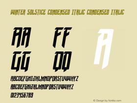 Winter Solstice Condensed Italic