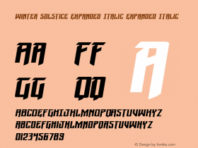 Winter Solstice Expanded Italic