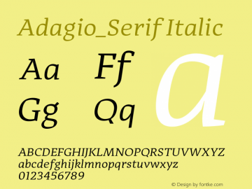 Adagio_Serif