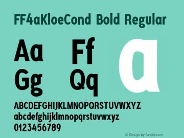 FF4aKloeCond Bold