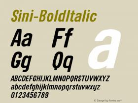 Sini-BoldItalic