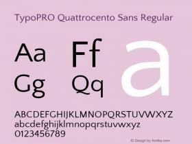 TypoPRO Quattrocento Sans
