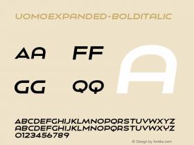 UomoExpanded-BoldItalic
