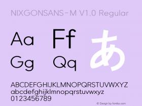NIXGONSANS-M
