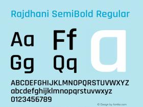 Rajdhani SemiBold