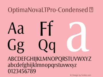 OptimaNovaLTPro-Condensed