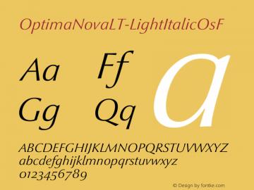 OptimaNovaLT-LightItalicOsF