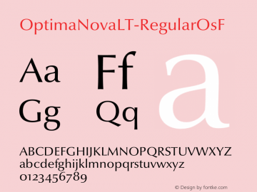 OptimaNovaLT-RegularOsF