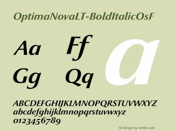 OptimaNovaLT-BoldItalicOsF