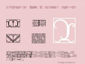 Ornamental Deco 2D Borders