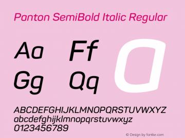 Panton SemiBold Italic
