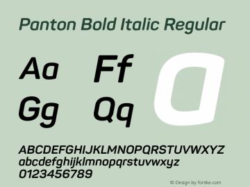 Panton Bold Italic