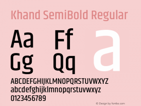 Khand SemiBold