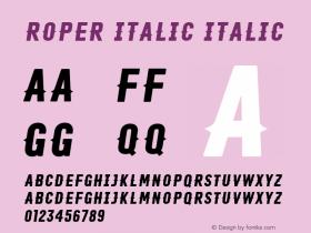 Roper Italic
