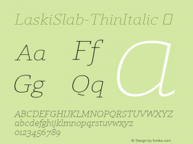 LaskiSlab-ThinItalic