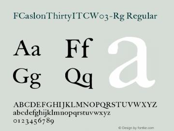 FCaslonThirtyITC-Rg