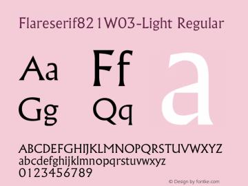 Flareserif821-Light