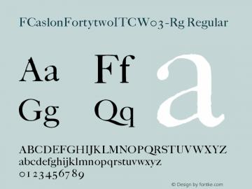 FCaslonFortytwoITC-Rg