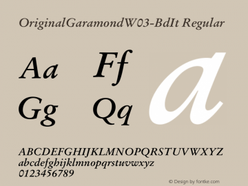 OriginalGaramond-BdIt
