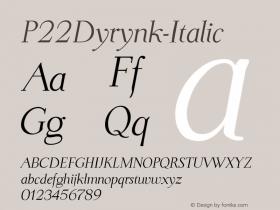 P22Dyrynk-Italic