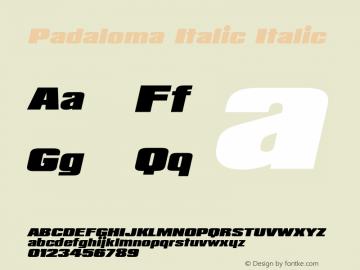 Padaloma Italic