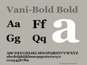 Vani-Bold