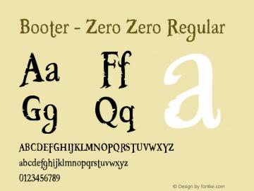 Booter - Zero Zero