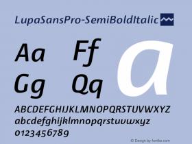 LupaSansPro-SemiBoldItalic