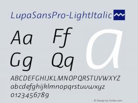LupaSansPro-LightItalic