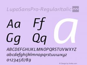 LupaSansPro-RegularItalic