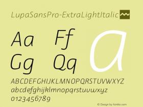 LupaSansPro-ExtraLightItalic