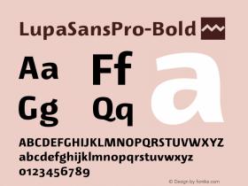 LupaSansPro-Bold