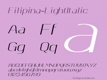 Filipina-LightItalic