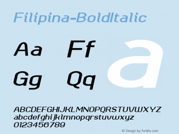 Filipina-BoldItalic