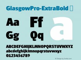 GlasgowPro-ExtraBold