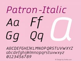 Patron-Italic
