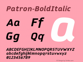 Patron-BoldItalic
