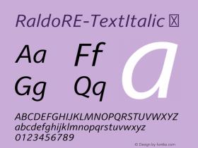 RaldoRE-TextItalic