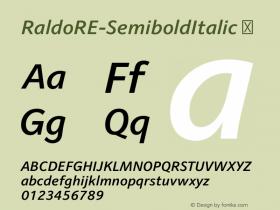 RaldoRE-SemiboldItalic