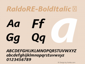 RaldoRE-BoldItalic