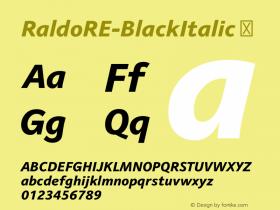 RaldoRE-BlackItalic