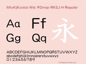 MtyKjKyotai-W4-90msp-RKSJ-H