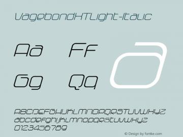 VagebondXTLight-Italic