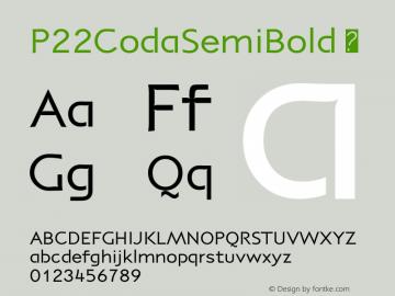 P22CodaSemiBold