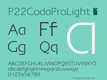 P22CodaProLight