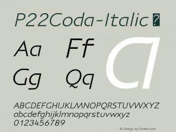 P22Coda-Italic