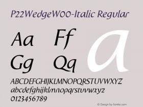 P22Wedge-Italic