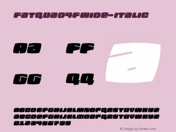 Fatquad4FWide-Italic