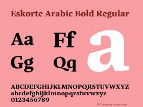 Eskorte Arabic Bold